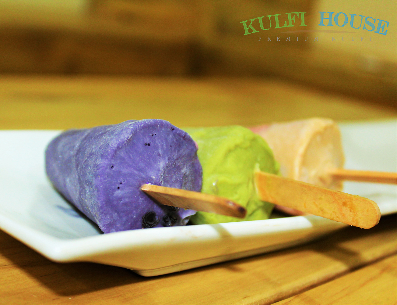 Blackcurrant kulfi